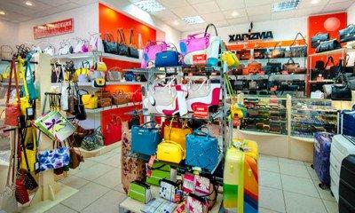 Торговый зал магазина сумок Харизма-багаж в ТД Аврора Саратов - торговая сеть магазинов ROBINZON-BAGS - престижная кожгалантерея по доступным ценам!