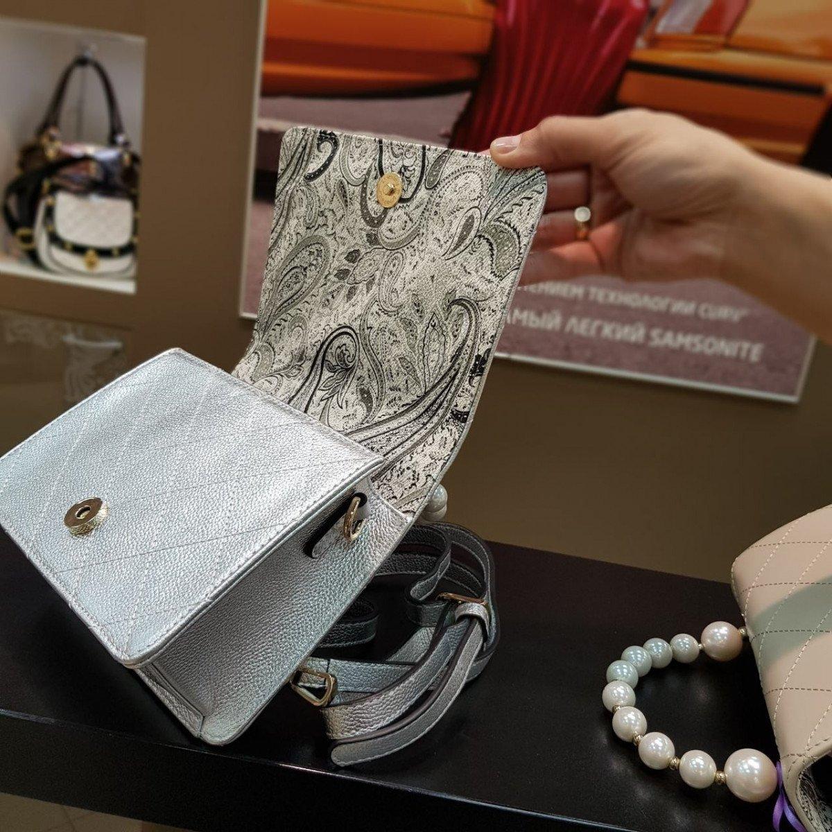 Женская кожаная сумка Alessandro Beato 4679 из натуральной кожи
