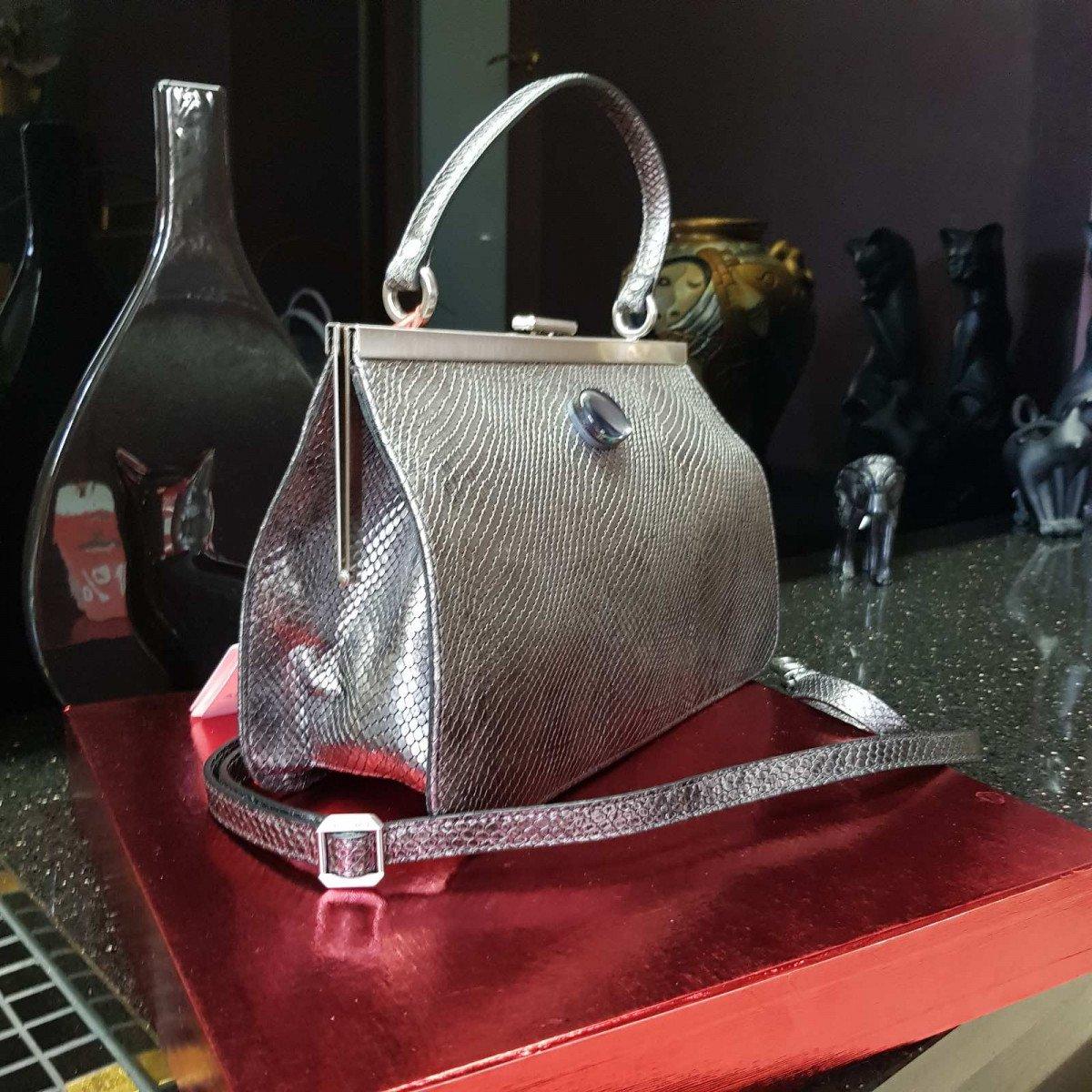 Женская кожаная сумка Arcadia 9279 mackay piombo из натуральной кожи