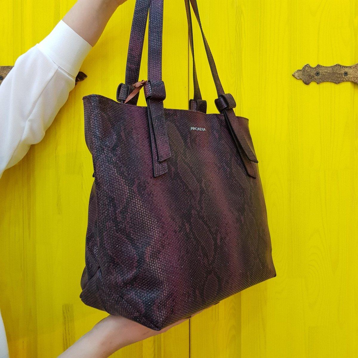 Женская кожаная сумка Arcadia 9566 matis rubino из натуральной кожи