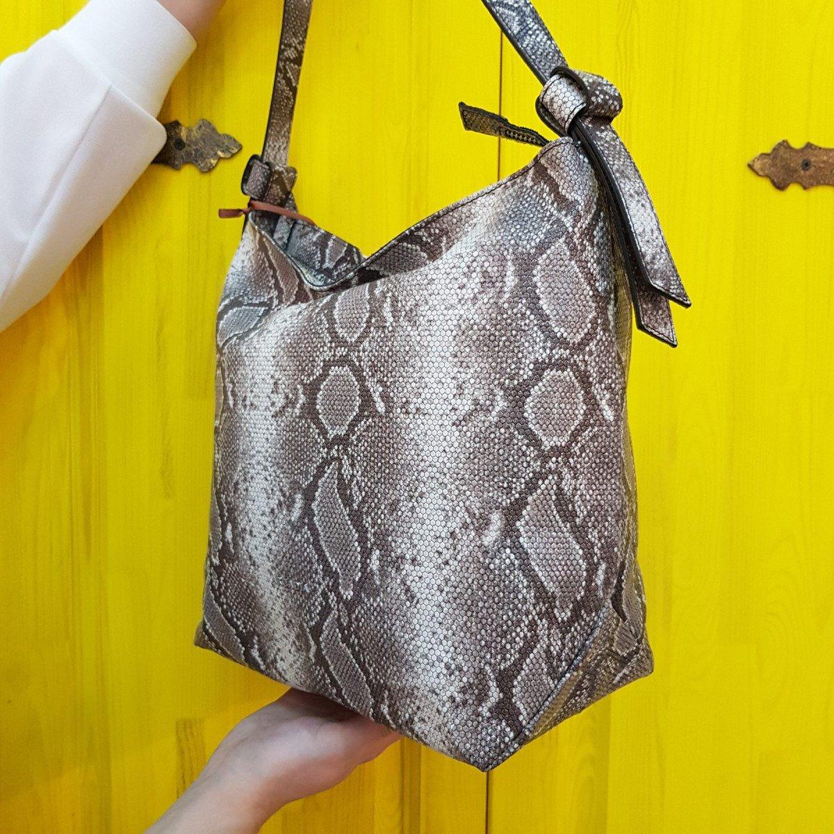 Женская кожаная сумка Arcadia 9567 matis roccia из натуральной кожи