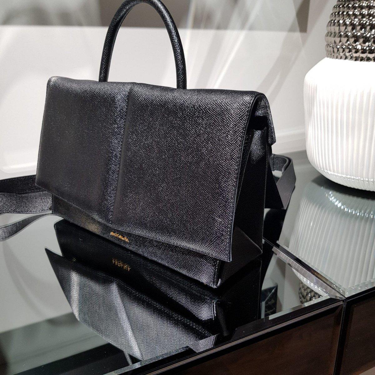 Итальянская женская сумка Arcadia 3940 galux nero из натуральной кожи
