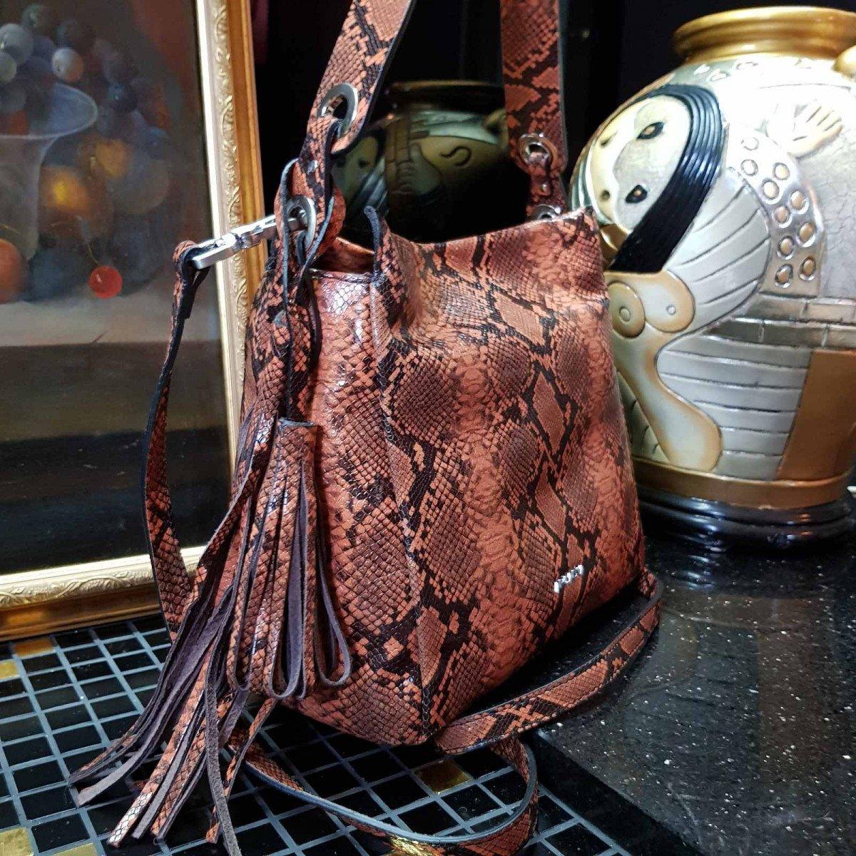 Женская кожаная сумка Arcadia 6880 mesis arancio из натуральной кожи