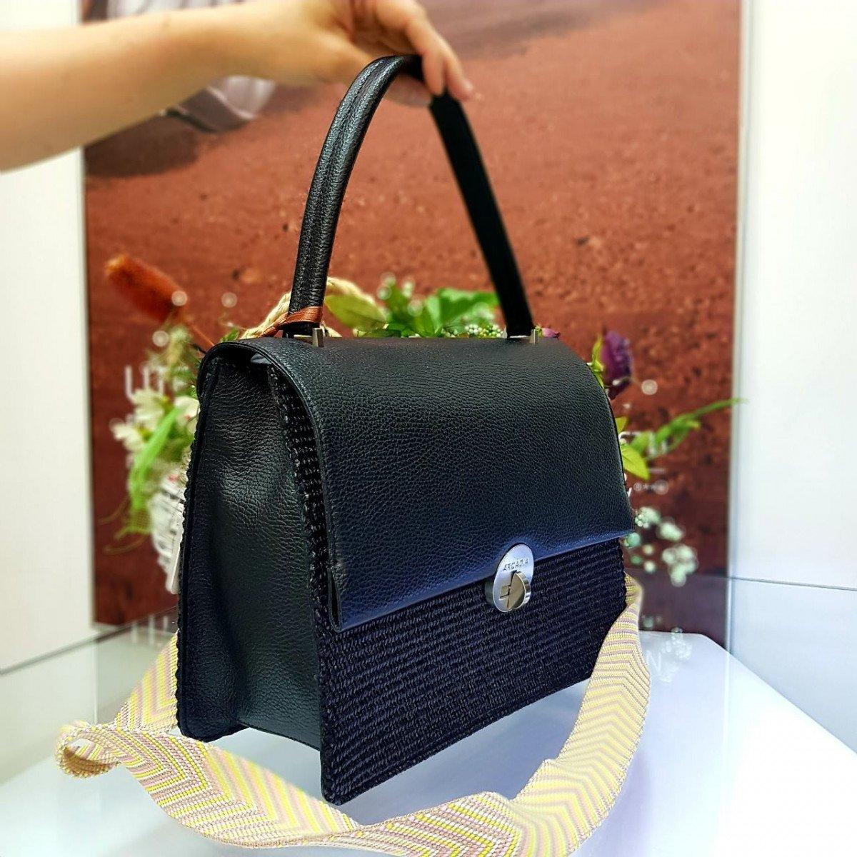 Женская кожаная сумка Arcadia 3017PA mir pa nero из натуральной кожи