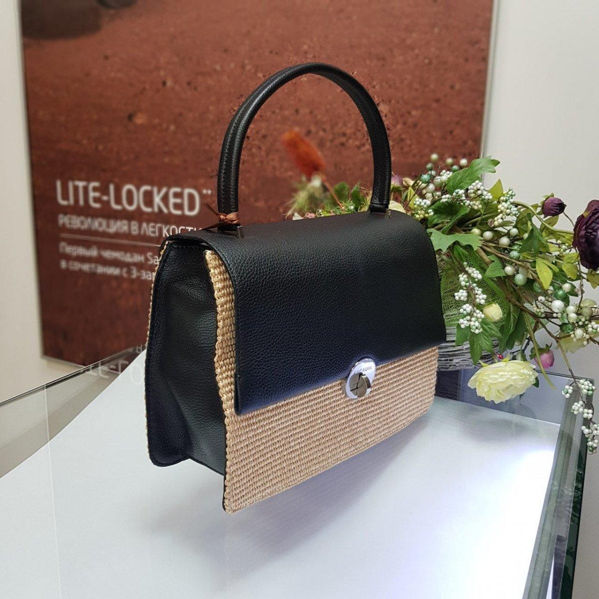 Женская кожаная сумка Arcadia 3017PA mir pa nero nat из натуральной кожи