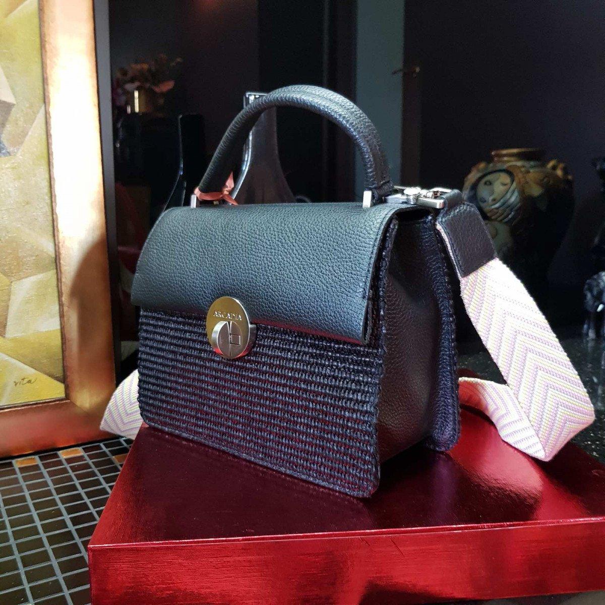 Женская кожаная сумка Arcadia 3018PA mir pa nero из натуральной кожи