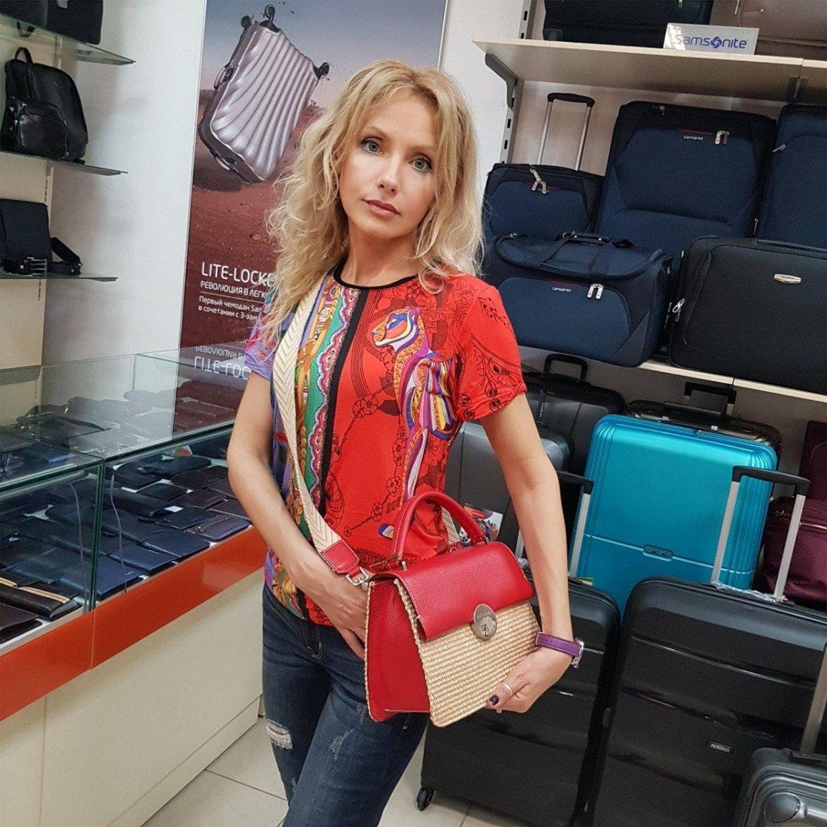 Женская кожаная сумка Arcadia 3018PA mir pa papavero из натуральной кожи