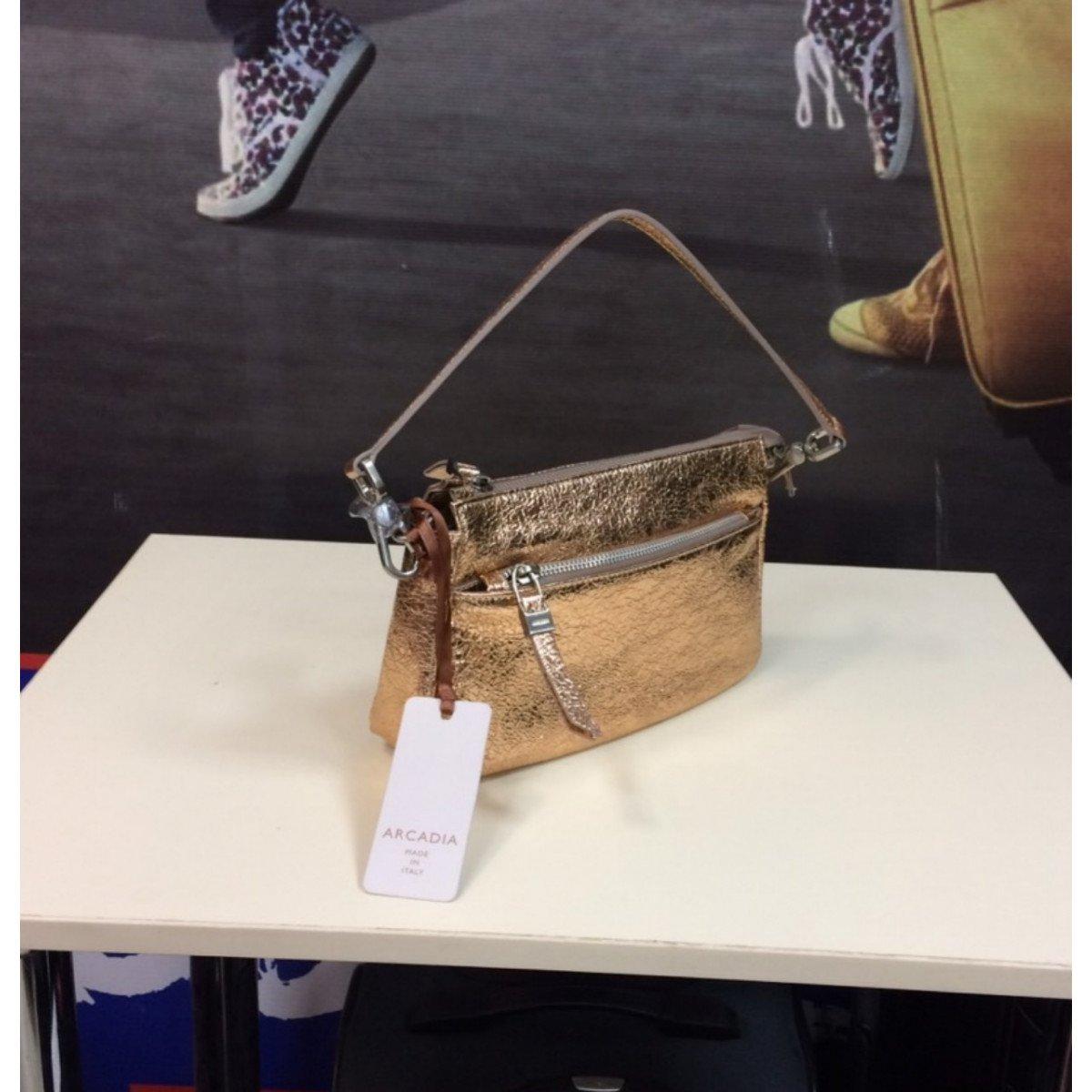 Женская кожаная сумка Arcadia 8709 mir rosa из натуральной кожи