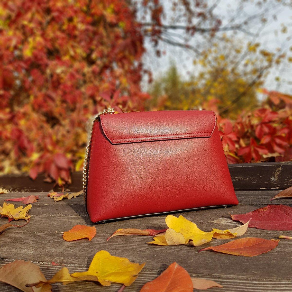 Женская кожаная сумка Cromia 1404706 BORDEAUX из натуральной кожи