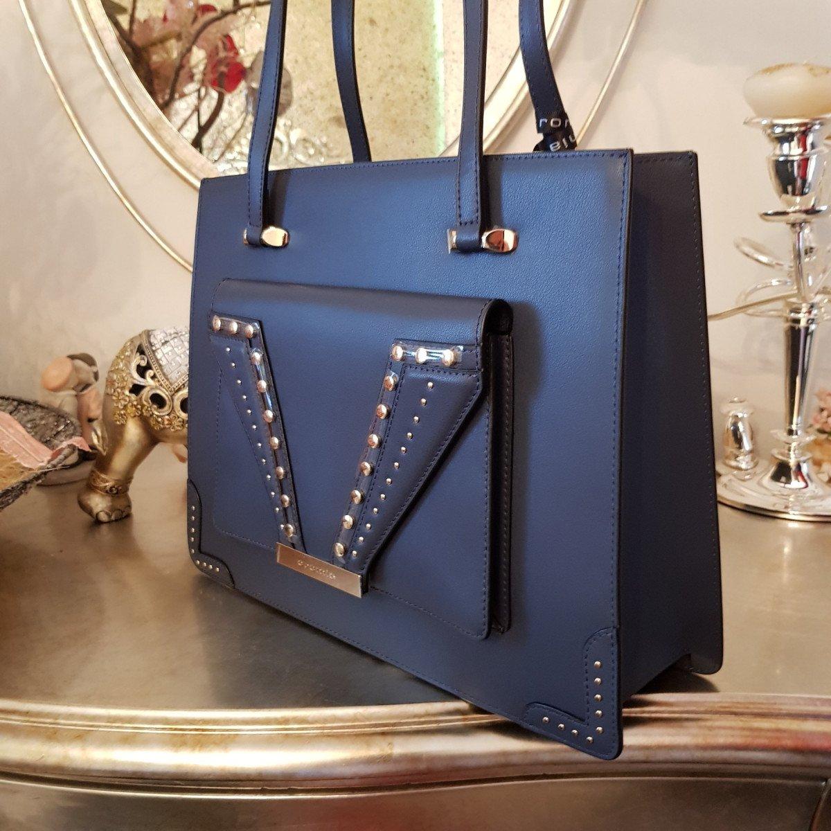 Женская кожаная сумка Cromia 1404731 BLU из натуральной кожи