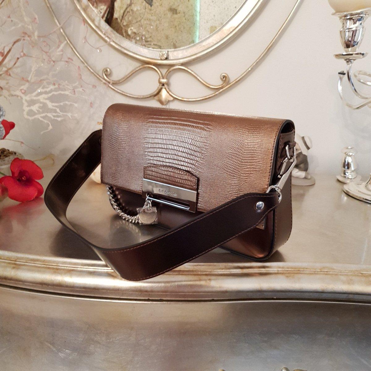 Женская кожаная сумка Cromia 1404767 BRONZO из натуральной кожи