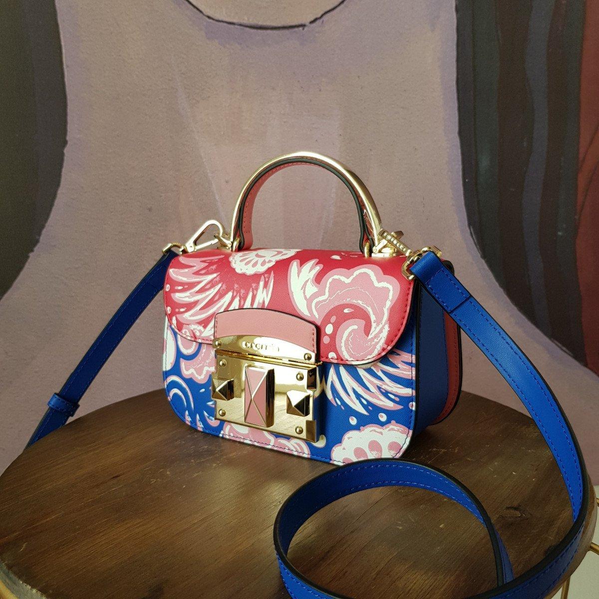 Женская кожаная сумка Cromia 1404853 INDACO из натуральной кожи