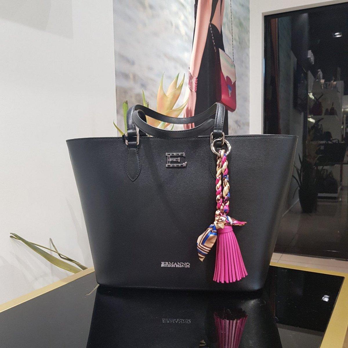 Женская кожаная сумка Ermanno Scervino 12400309 из натуральной кожи