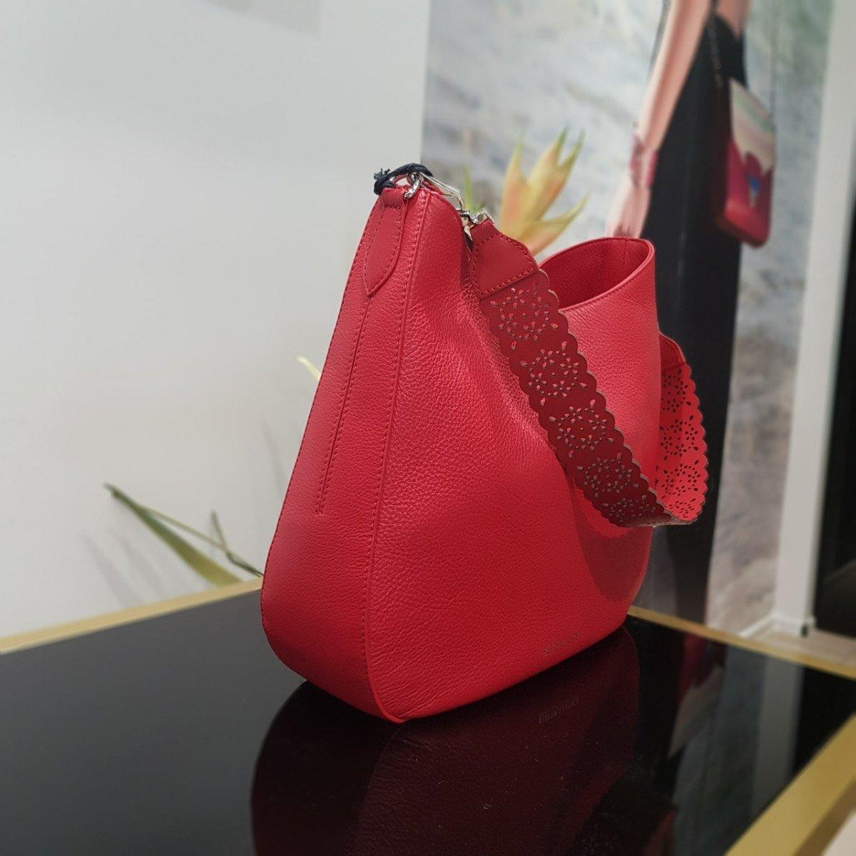 Женская кожаная сумка Ermanno Scervino 12400321 из натуральной кожи