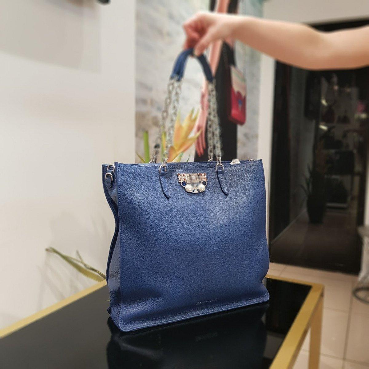 Женская кожаная сумка Ermanno Scervino 12400472 из натуральной кожи