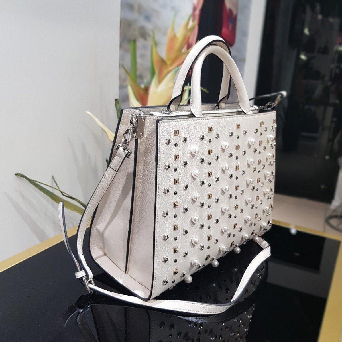 Женская кожаная сумка Ermanno Scervino 12400543 из экокожи