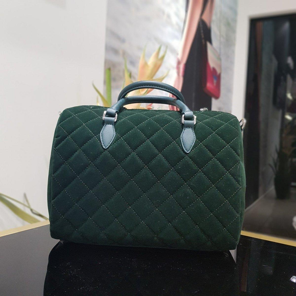 Женская кожаная сумка Ermanno Scervino 12400588 green из натуральной кожи