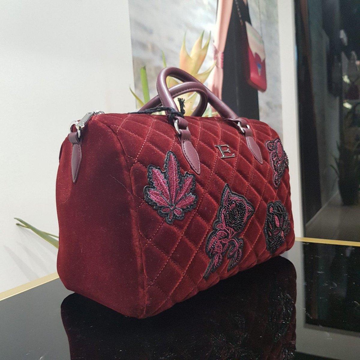 Женская кожаная сумка Ermanno Scervino 12400588 red из натуральной кожи