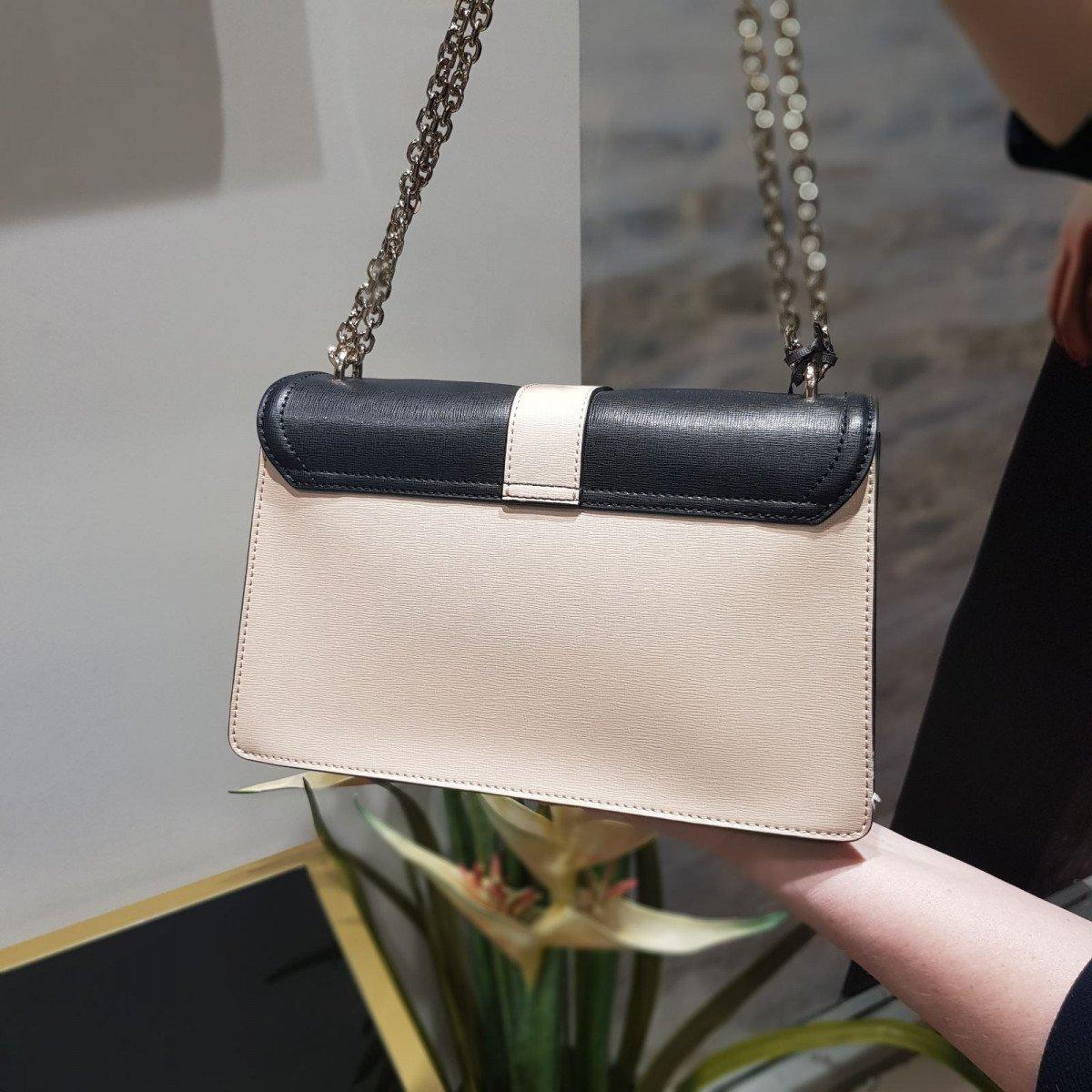 Женская кожаная сумка La Martina 41W112 O0001 black cuban sand pewt из натуральной кожи