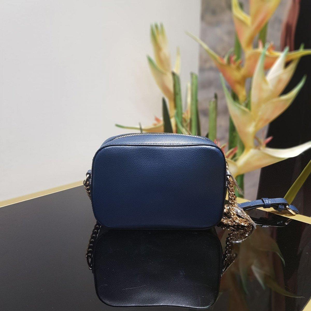 Женская кожаная сумка La Martina 41W282 O0005 navy из натуральной кожи