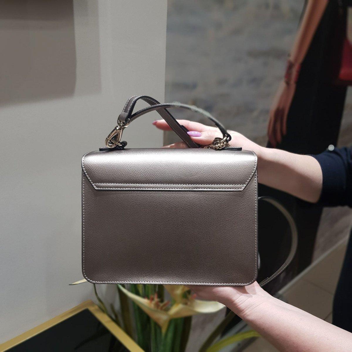 Женская кожаная сумка La Martina 41W332 O0005 pewter из натуральной кожи