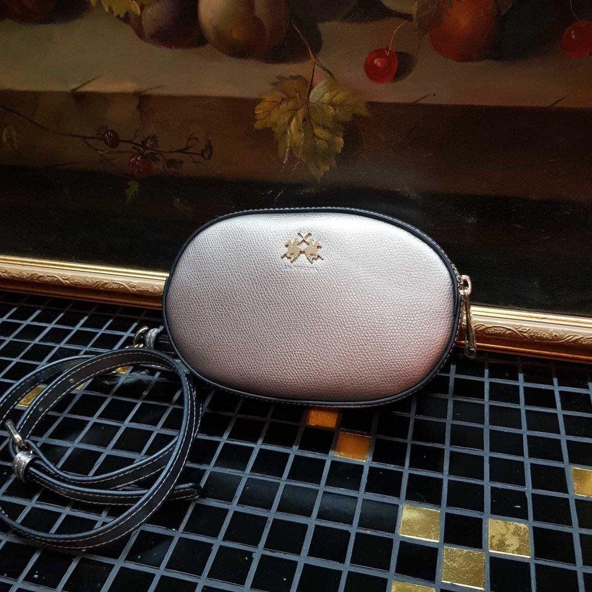 Женская кожаная сумка La Martina 41W336 O0005 pewter из натуральной кожи