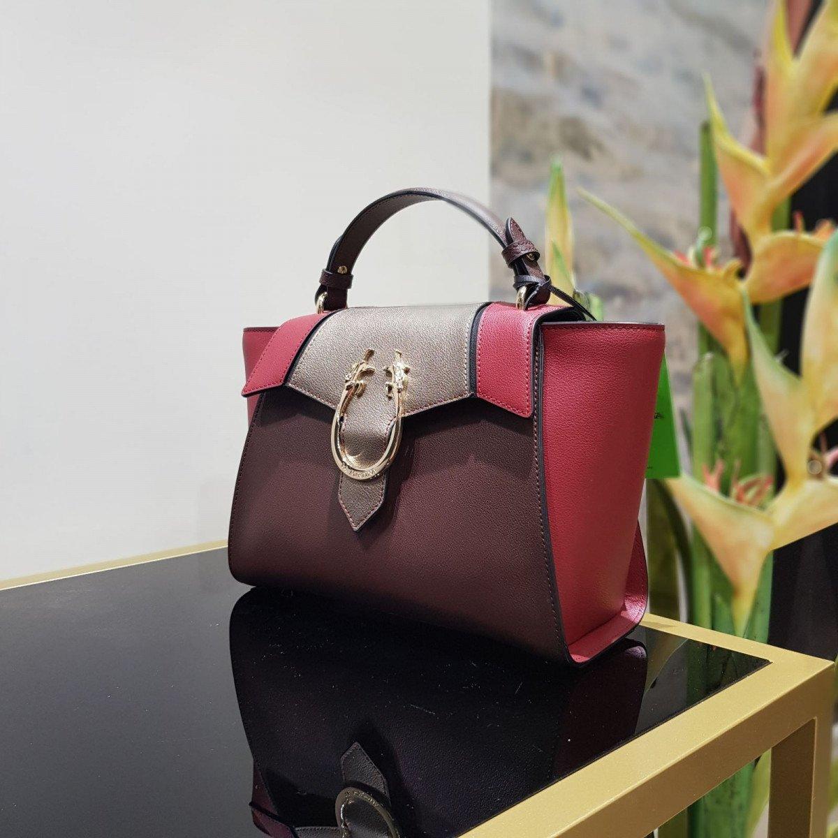 Женская кожаная сумка La Martina 41W357 O0032 puce b biking pewt из натуральной кожи