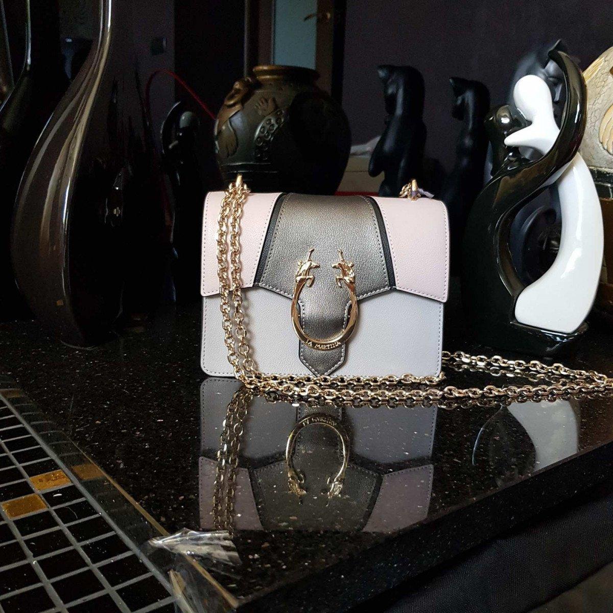 Женская кожаная сумка La Martina 41W359 O0032 opal g rose g pewt из натуральной кожи