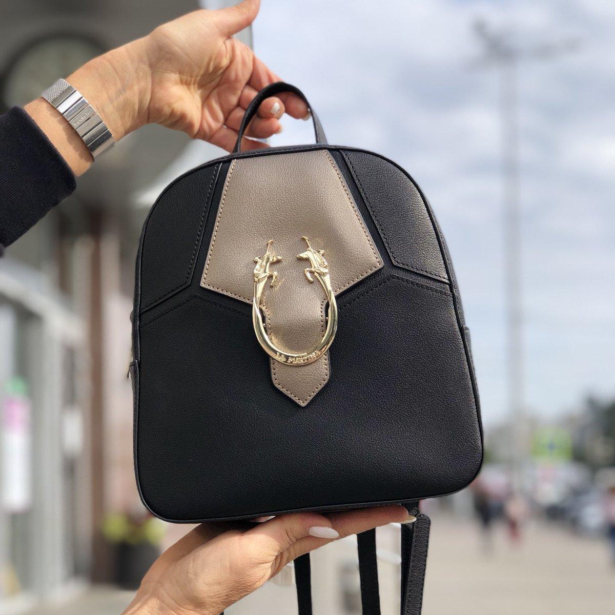 Женская кожаная сумка La Martina 41W361 O0032 black из натуральной кожи