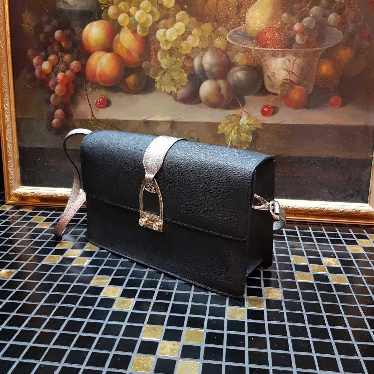 Женская кожаная сумка La Martina 41W401 O0034 black sand pewter из натуральной кожи