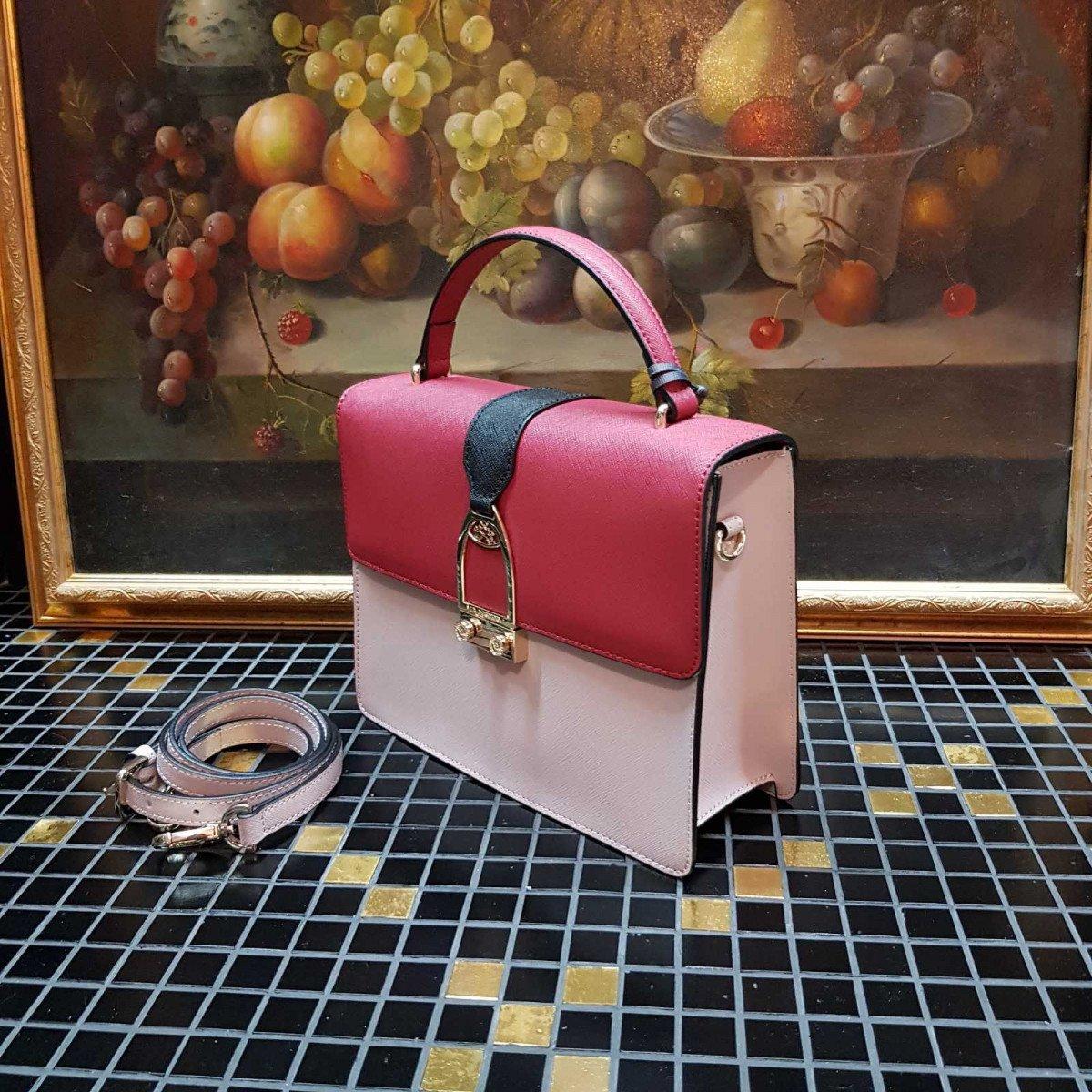 Женская кожаная сумка La Martina 41W402 O0034 rose biking r black из натуральной кожи
