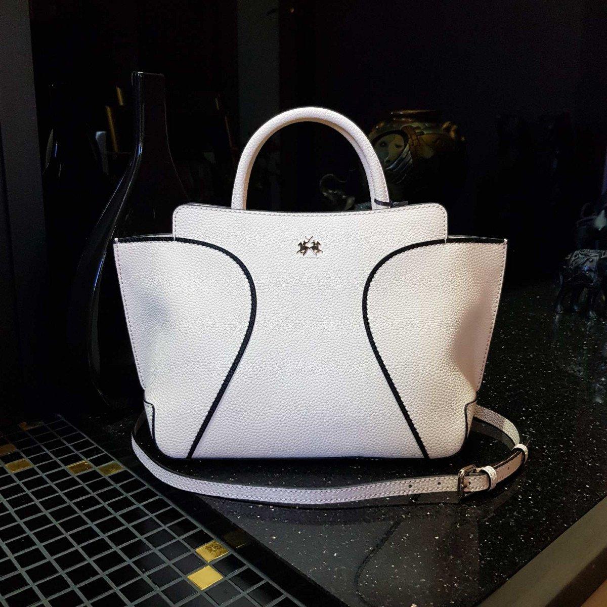 Кожаная женская сумка LA Martina 41W173 P0004 milk из натуральной кожи из натуральной кожи