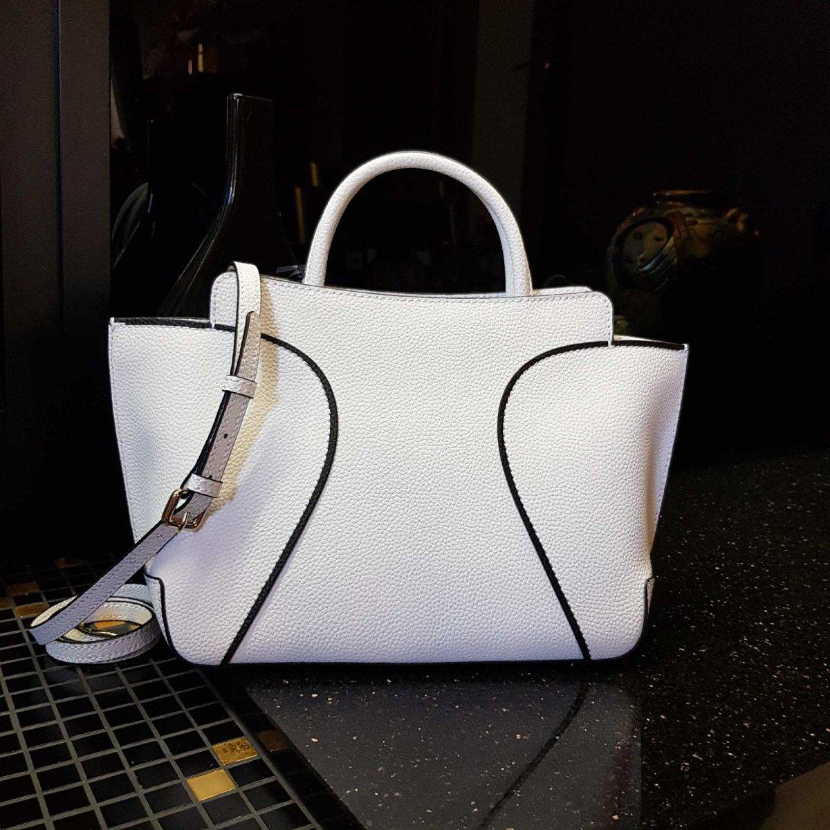Кожаная женская сумка LA Martina 41W173 P0004 optic white из натуральной кожи из натуральной кожи