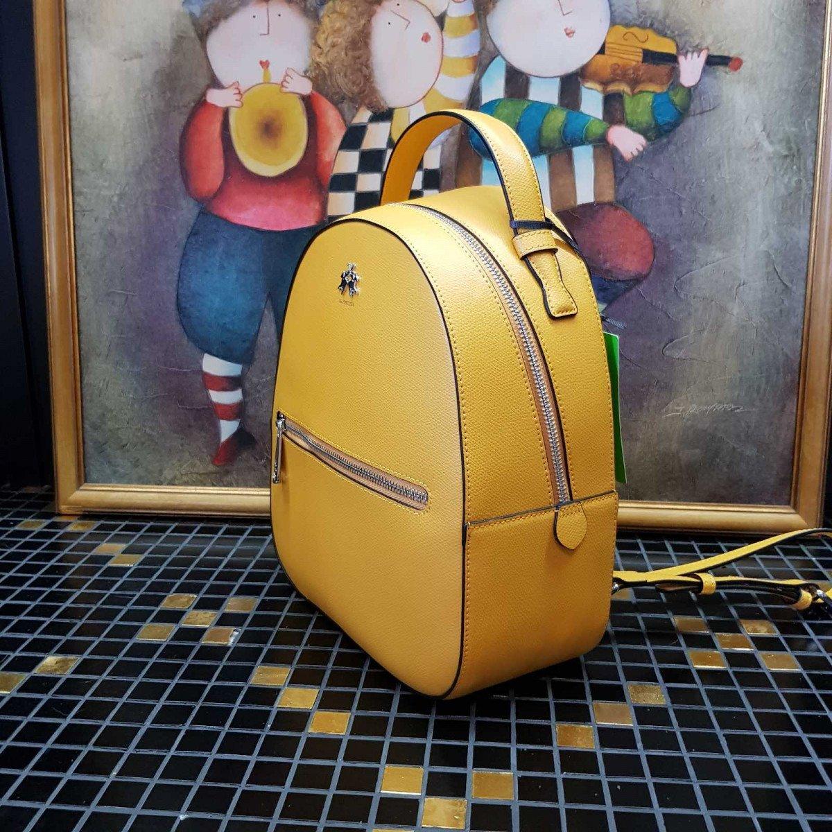 Кожаный женский рюкзак LA Martina 41W281 P0005 nugget gold из натуральной кожи из натуральной кожи