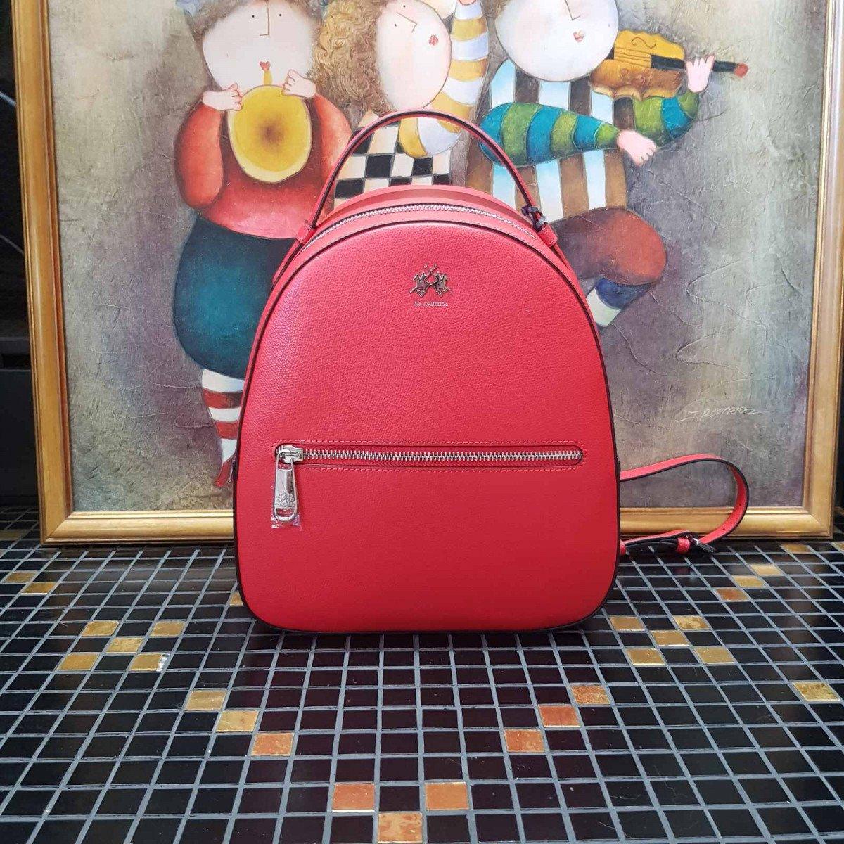 Кожаный женский рюкзак LA Martina 41W281 P0005 true red из натуральной кожи из натуральной кожи