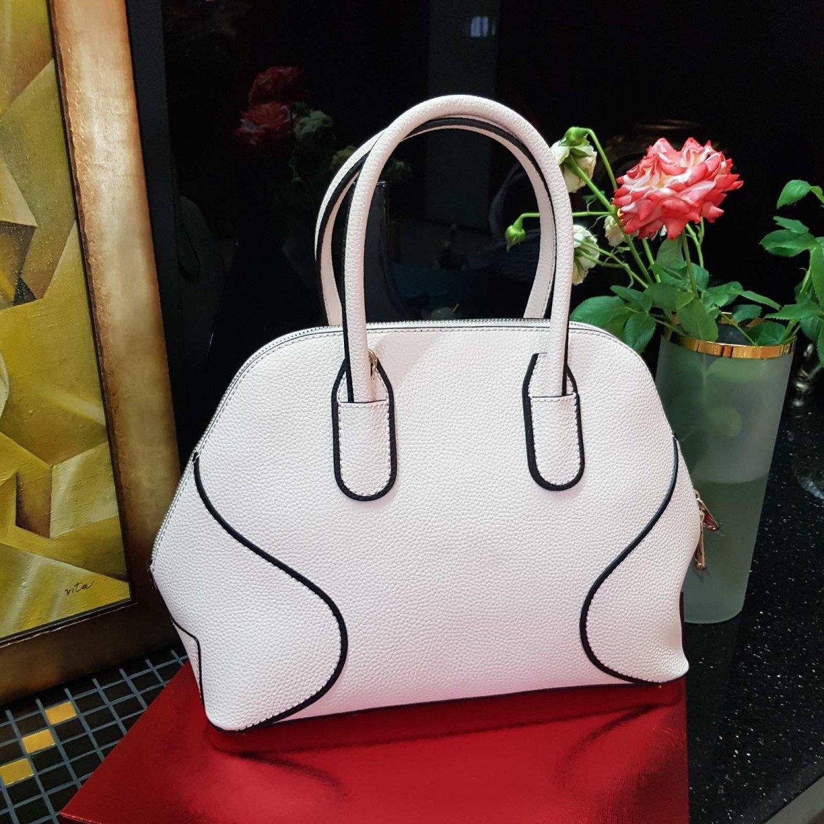 Кожаная женская сумка LA Martina 41W409 P0004 milk из натуральной кожи из натуральной кожи