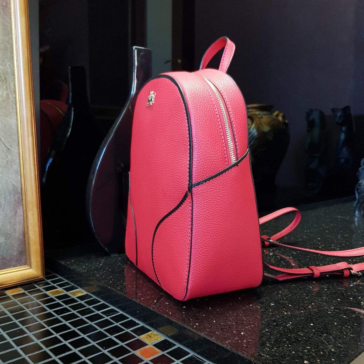 Кожаный женский рюкзак LA Martina 41W411 P0004 true red из натуральной кожи из натуральной кожи