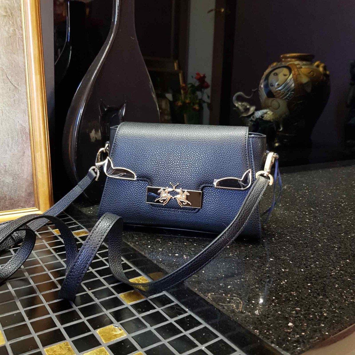 Кожаная женская сумка LA Martina 41W418 P0085 black из натуральной кожи из натуральной кожи