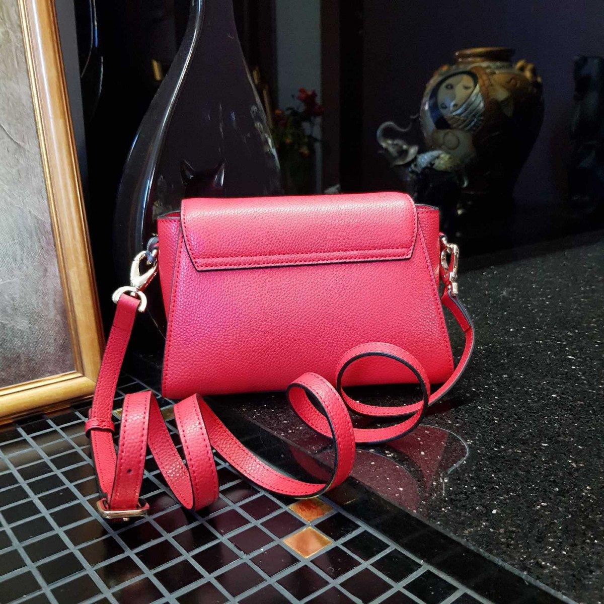 Кожаная женская сумка LA Martina 41W418 P0085 true red из натуральной кожи из натуральной кожи