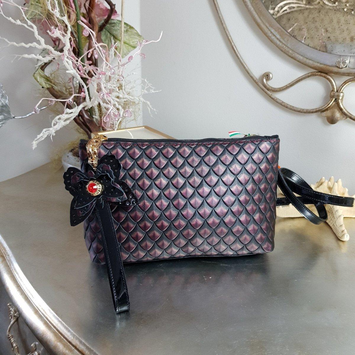 Женская кожаная сумка Marino Orlandi 4573 bordo из натуральной кожи