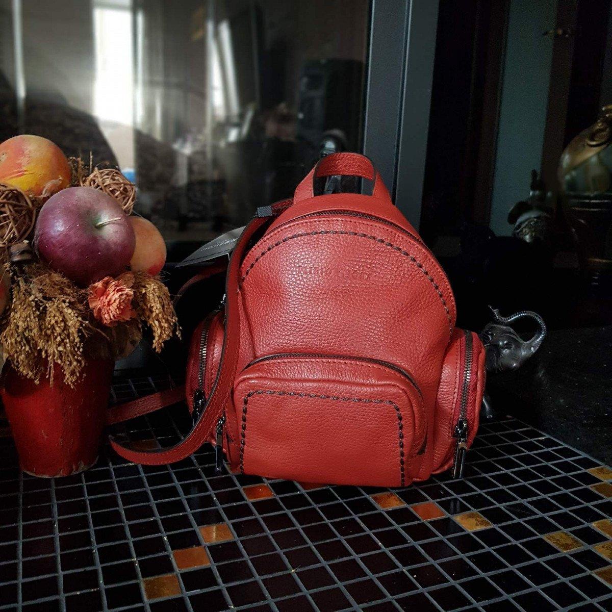 Женский кожаный рюкзак Plinio Visona 19562 California MATTONE из натуральной кожи