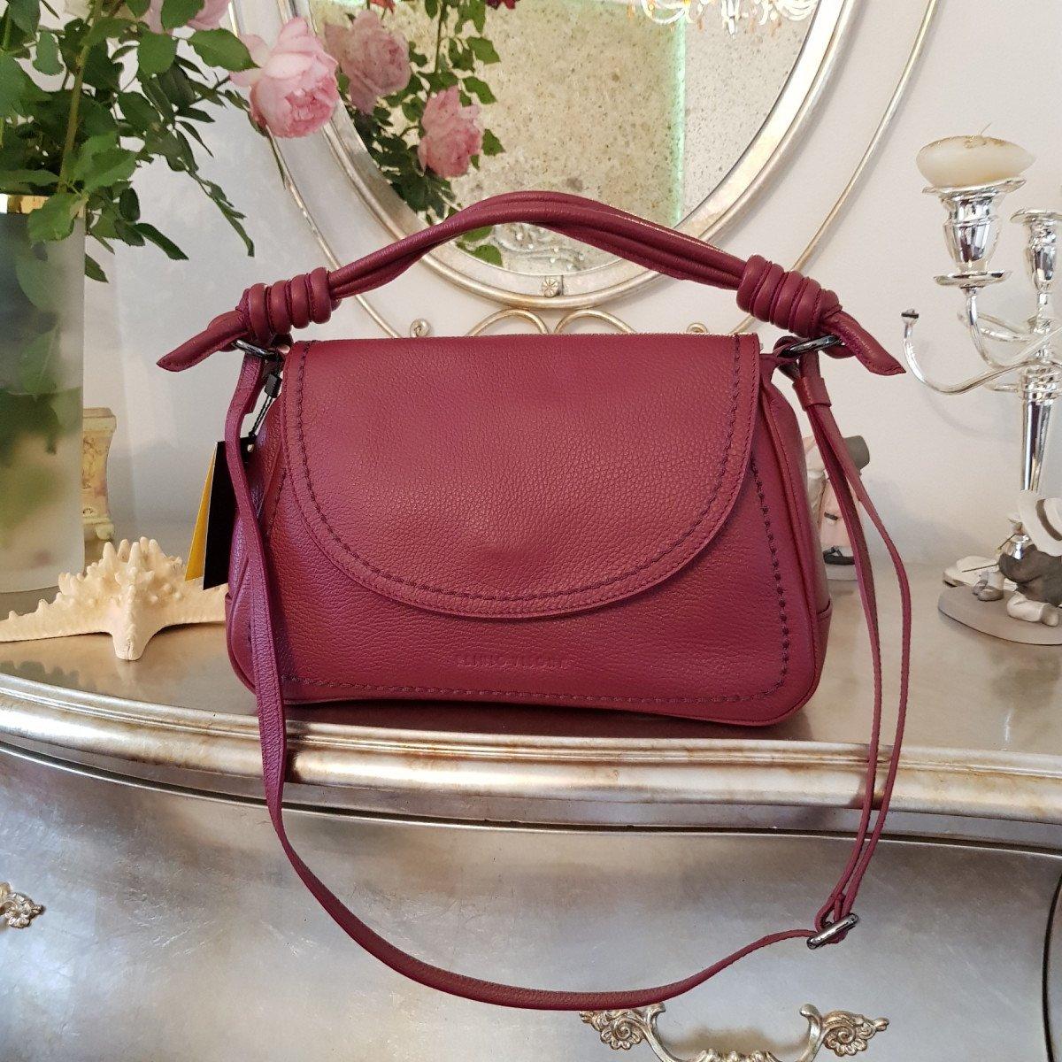 Женская кожаная сумка Plinio Visona 20551 California AMARENA из натуральной кожи