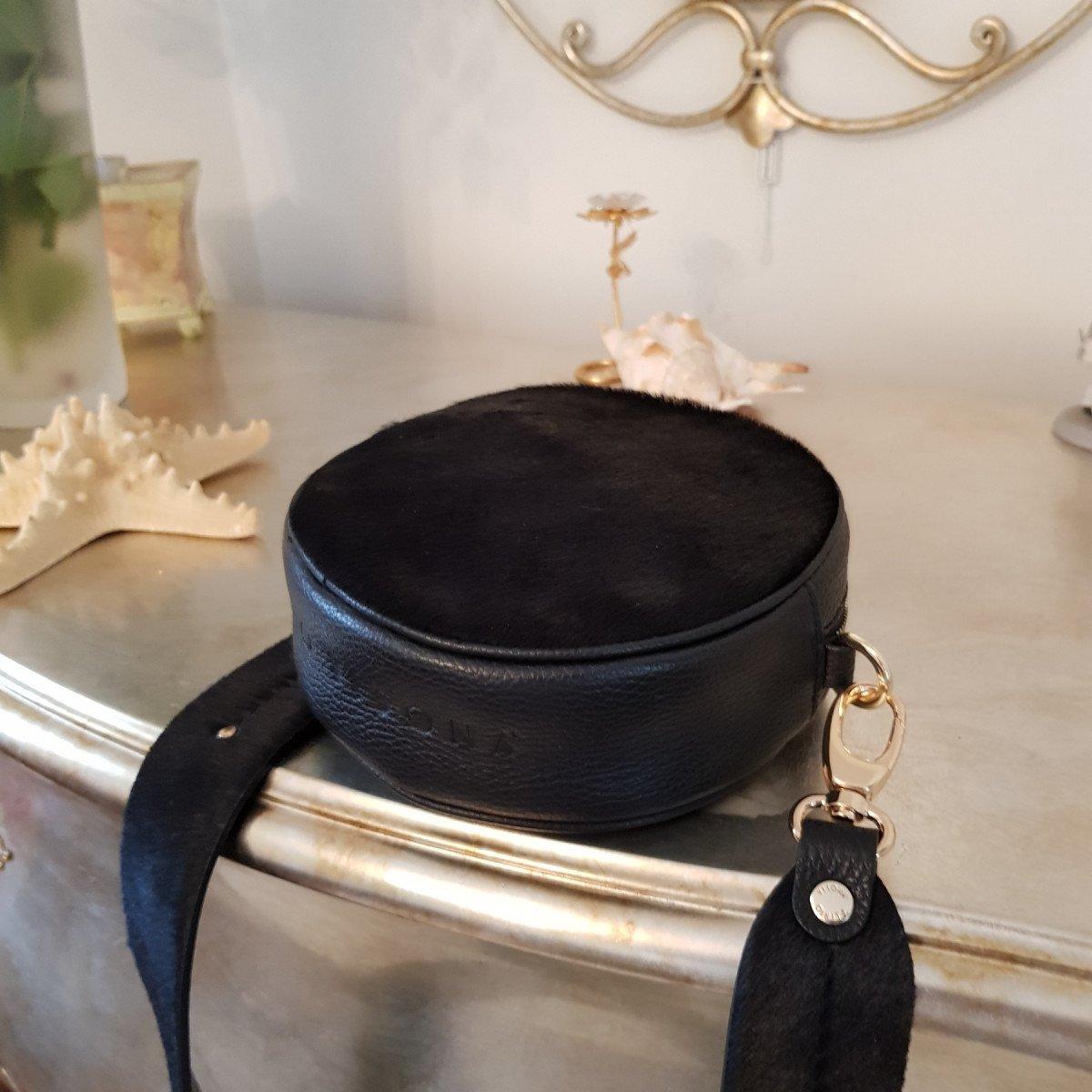 Женская кожаная сумка Plinio Visona 20593 Pony/Cal. NERO из натуральной кожи