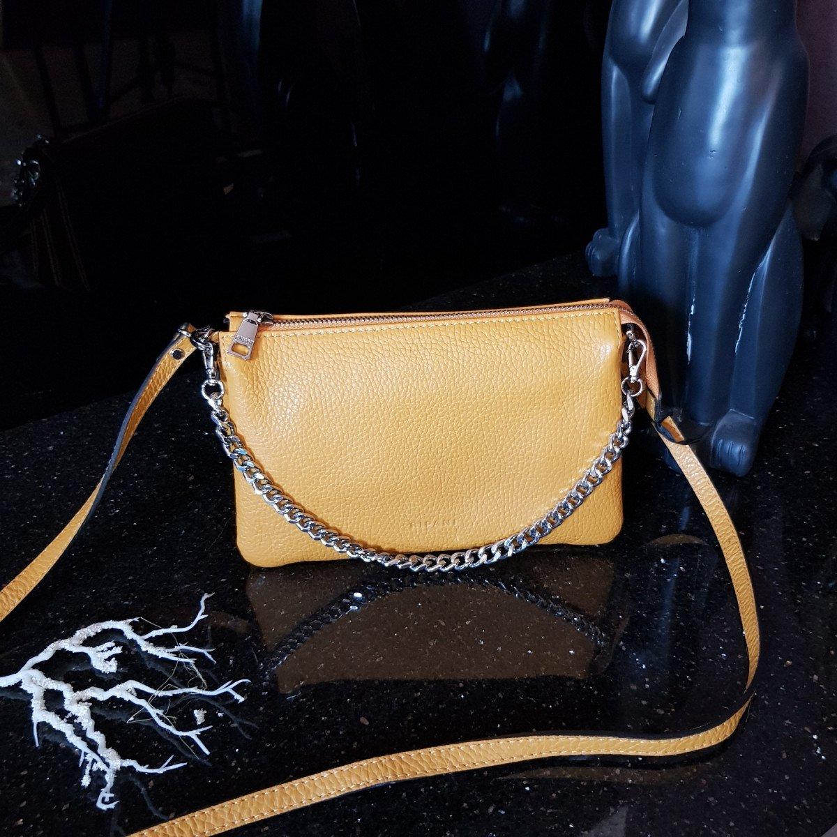 Женская кожаная сумка Ripani 7086OJ.00040 Senape из натуральной кожи