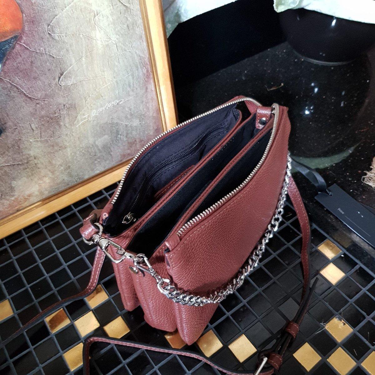 Женская кожаная сумка Ripani 7086OJ.00060 Mandorla из натуральной кожи