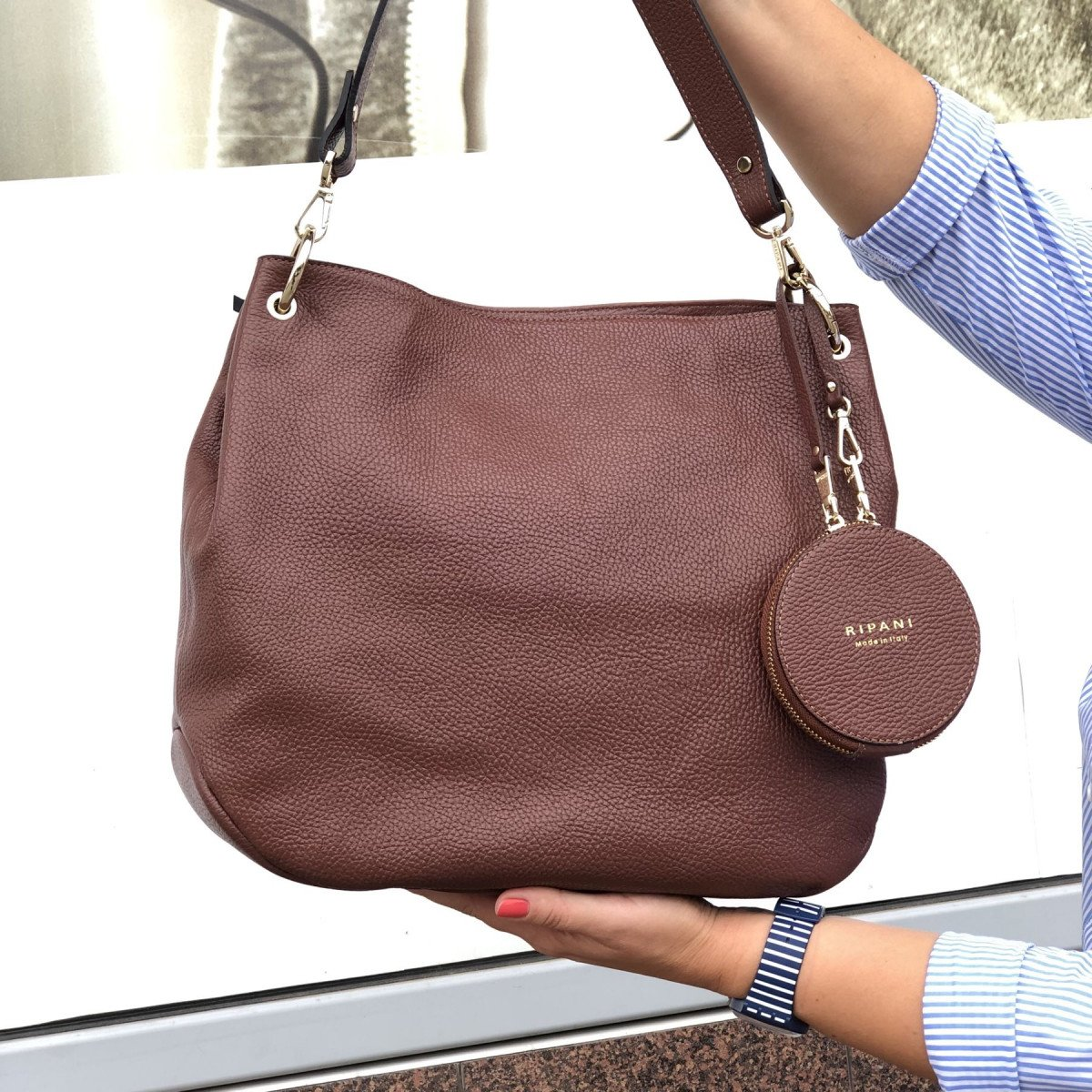 Женская кожаная сумка Ripani 9267OO.00060 Mandorla из натуральной кожи