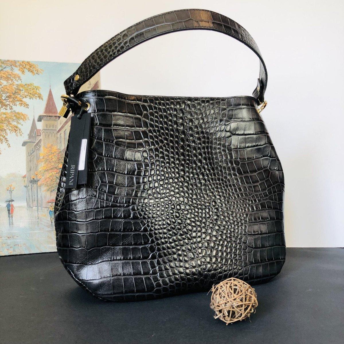 Женская кожаная сумка Ripani 9267SO.00003 Nero из натуральной кожи