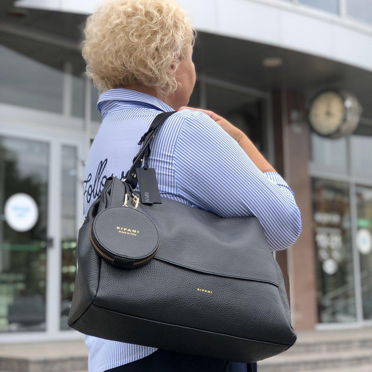 Женская кожаная сумка Ripani 9268OO.00003 Nero из натуральной кожи