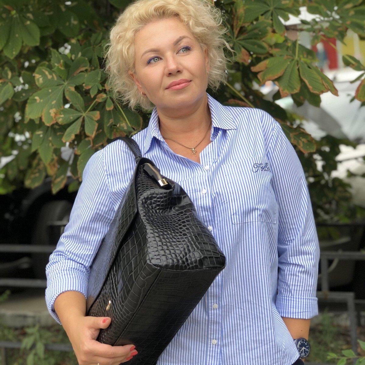 Женская кожаная сумка Ripani 9268SO.00003 Nero из натуральной кожи