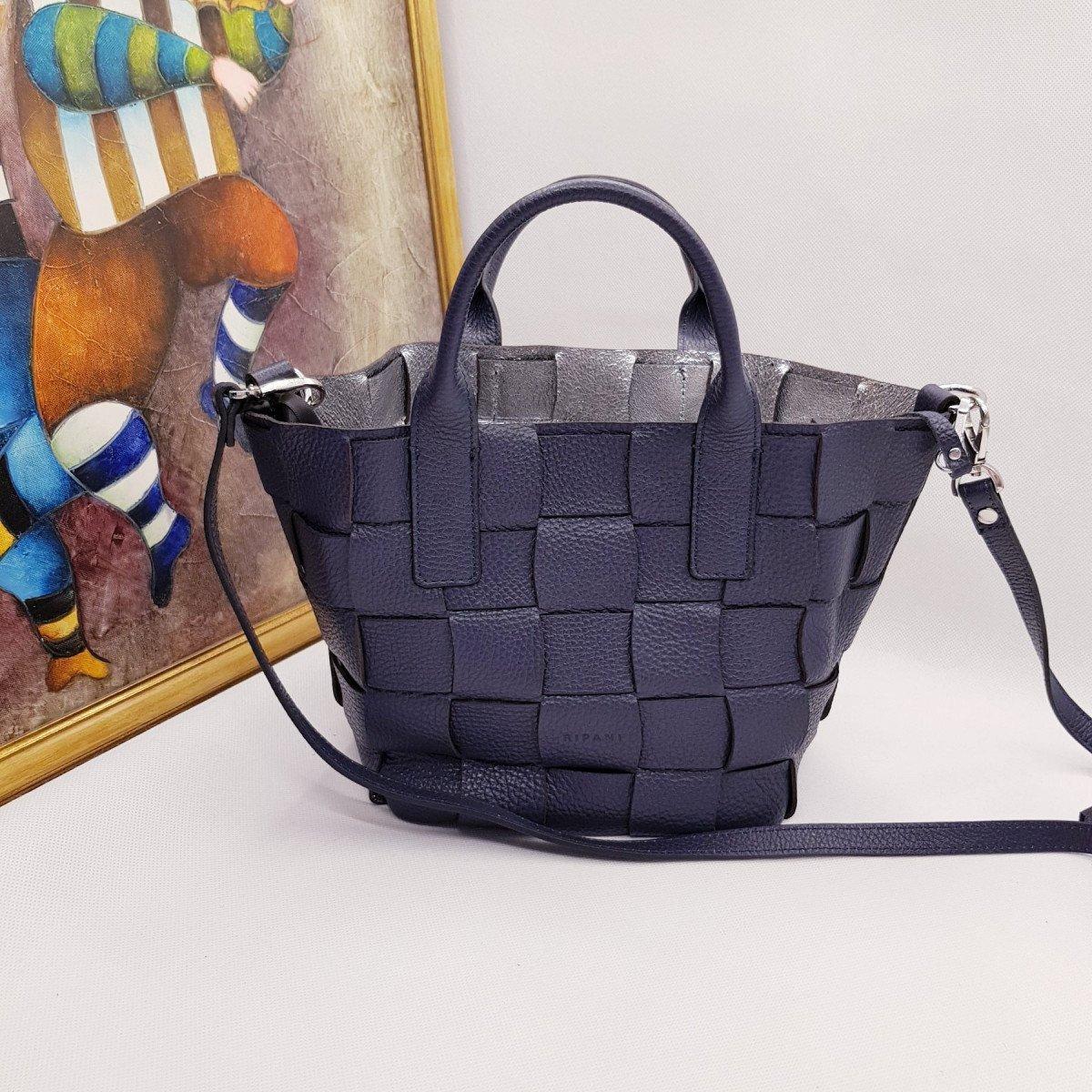 Женская кожаная сумка Ripani 2613OA Blu из натуральной кожи